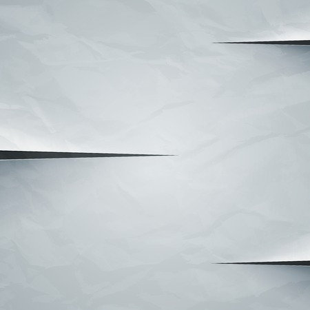 White crumpled paper cut background.