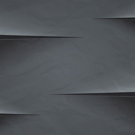 slit: Dark grey crumpled paper cut background.