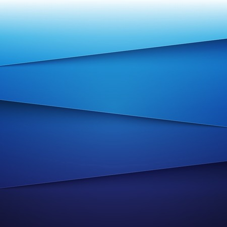 Blue paper layers abstract background.