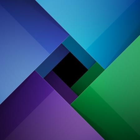 arte abstracto: Swirly colorido fondo de papel brillante. Vectores