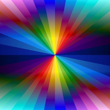 Rainbow colorful kaleidoscope background.  Illustration