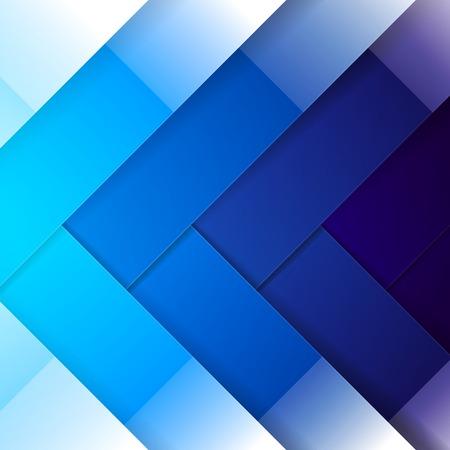 Abstracte blauwe glanzende rechthoek vormen achtergrond. Stock Illustratie