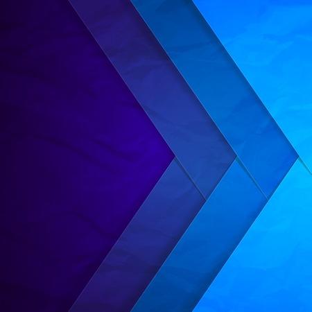 Abstract blauw papier kruising rechthoek vormen achtergrond. Stock Illustratie