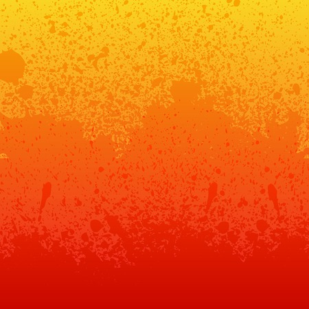 ink art: Colorful red, orange and yellow paint splashes background. RGB EPS 10 vector illustration