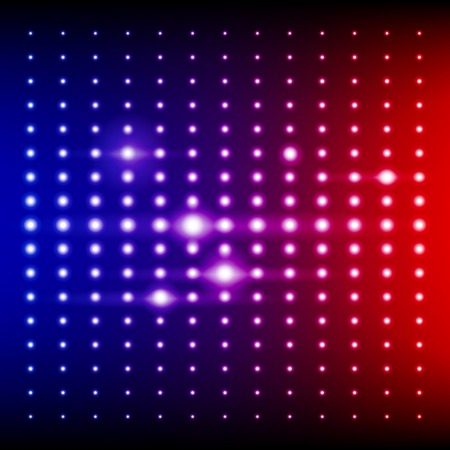Red, blue and purple shining disco equalizer lights. RGB EPS 10 vector background Vector