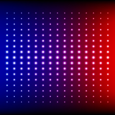 Red, blue and purple shining disco equalizer lights.  Vector