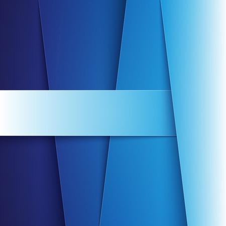 Blauwe papier diagonale lagen met realistische schaduwen abstracte achtergrond. Stock Illustratie