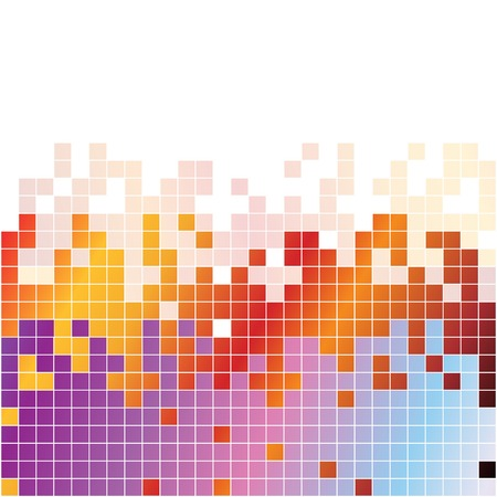 rainbow vector: Abstract rainbow colorful pixels equalizer on white background. RGB vector illustration Illustration