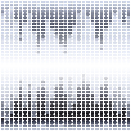 Grey and black digital equalizer on white background. RGB   vector illustration Vector