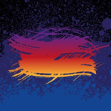 splats: Grunge colorful brush stroke on dark blue paint splats background. RGB EPS 10 vector illustration Illustration