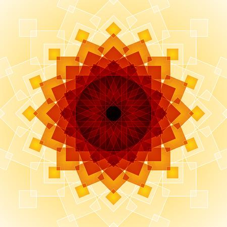 Gelb, Orange und Rot gemischt transparent Rechtecke auf hellgelbem Hintergrund. RGB-EPS-10 Vektor-Illustration Standard-Bild - 47485481