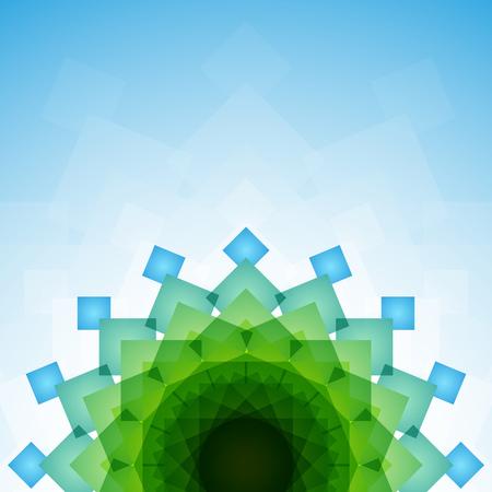 blended: Blue and green blended transparent rectangles on light blue background. RGB EPS 10 vector illustration
