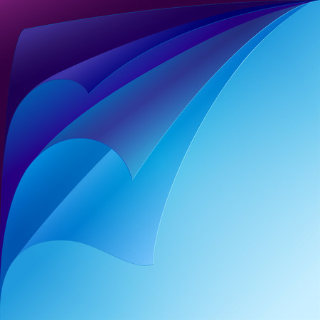 curled paper: Set of purple and blue curled paper corners with realistic shadows. RGB EPS 10 vector illustration