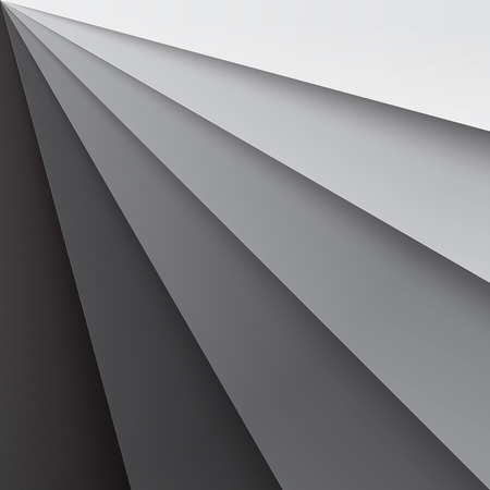 Grey paper layers with realistic shadows abstract background. RGB EPS 10 vector illustration