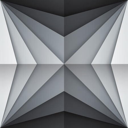 Black and gray rectangle shapes abstract background. RGB EPS 10 vector illustration Banco de Imagens - 47622386