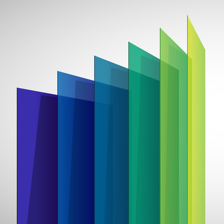 Infographics 3d perspective colorful abstract rectangles on white background. RGB EPS 10 vector illustration