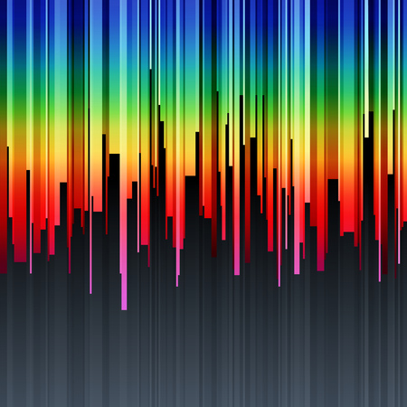 Abstract vertical infographics rainbow gradient cut stripes background. RGB EPS 10 vector illustration