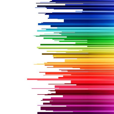 Estratto infografica orizzontali tagli strisce arcobaleno gradiente su sfondo bianco. RGB EPS illustrazione vettoriale 10 Vettoriali
