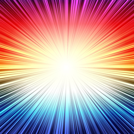 bright color: Rainbow radial stripes burst explosion background. RGB EPS 10 vector illustration