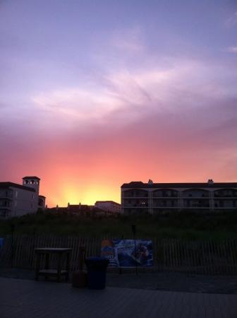 wildwood: Sunset in Wildwood New Jersey  Stock Photo