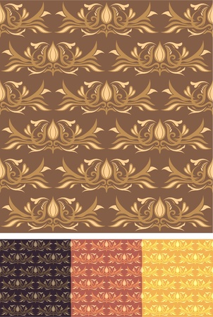 Seamless Pattern Wallpaper 01 Vector
