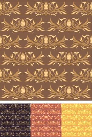 Seamless Pattern Wallpaper 01 Vector