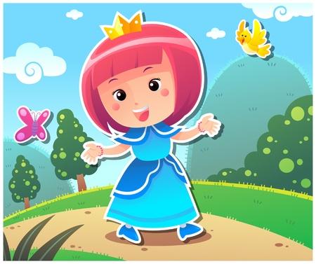 Princess Lily Stock Vector - 9090463