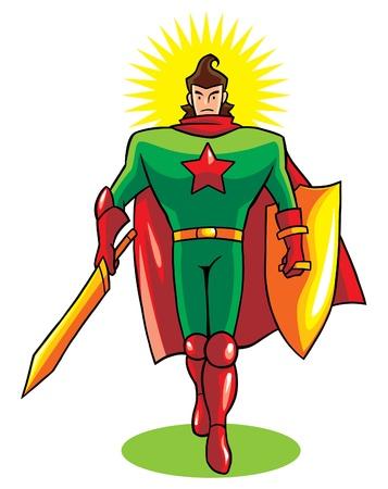 Immune Hero Vector