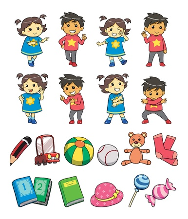 colourful candy: Kids Style Illustration