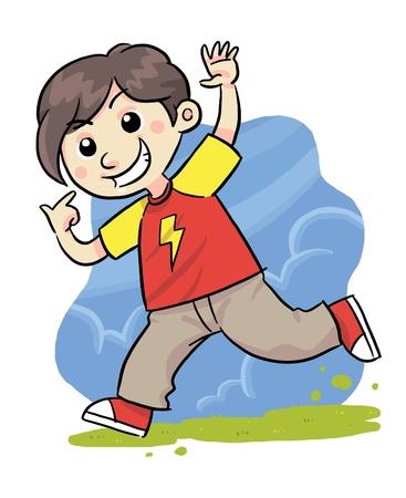 smilling: Happy Boy Illustration