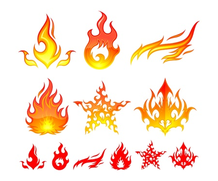 brandweer cartoon: Brand elementen