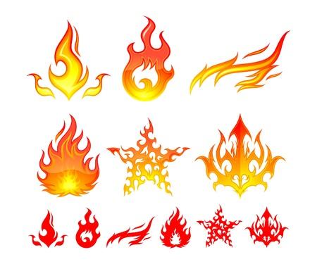 Fire Elements Illustration