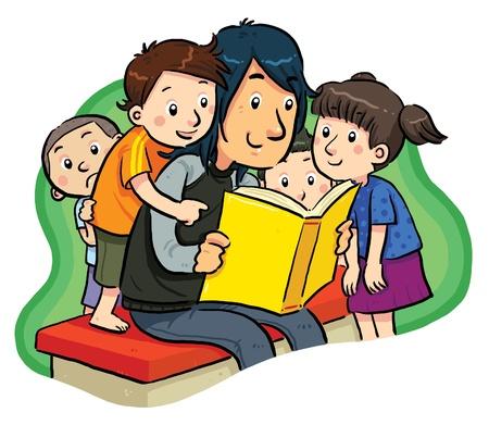 ni�os leyendo: Lectura