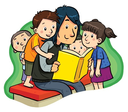 kids reading book: Reading