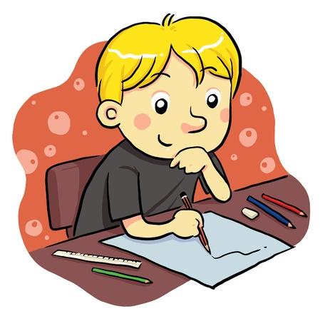 ni�os escribiendo: Estudio Vectores
