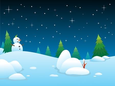 yew: Winter night BG