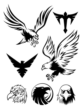 wings logos: Eagle Symbol Illustration