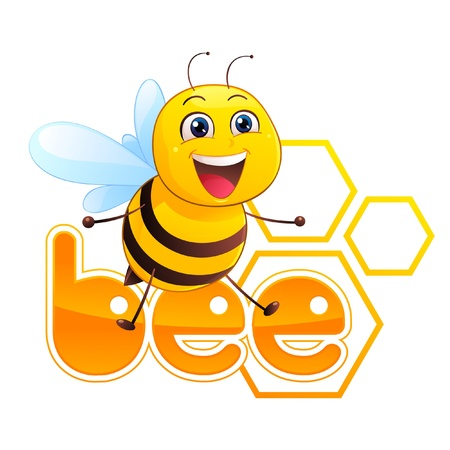 cute bee: Bee Mascot Illustration