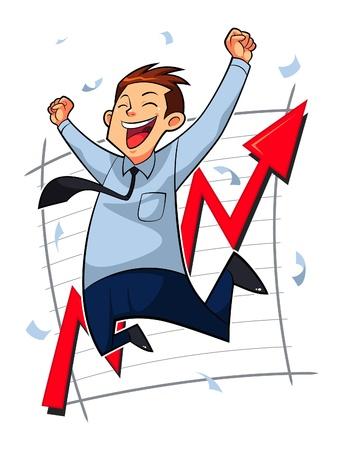 salarios: Hombre de negocios feliz