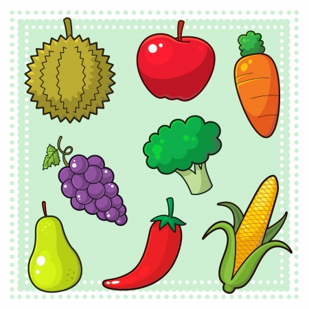 green and purple vegetables: Fruits and Vegetables