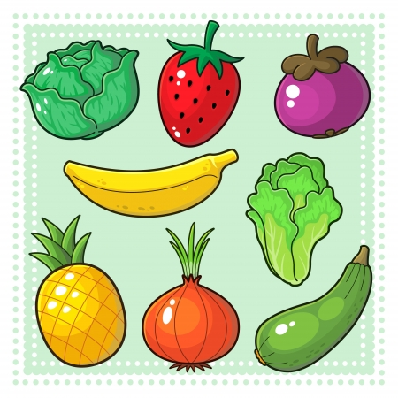 Fruits and Vegetables Stock Vector - 17276499