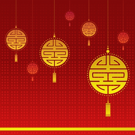 Chinese New Year Background Stock Vector - 17313132