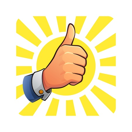 Thumb Up of Success Stock Vector - 17352809