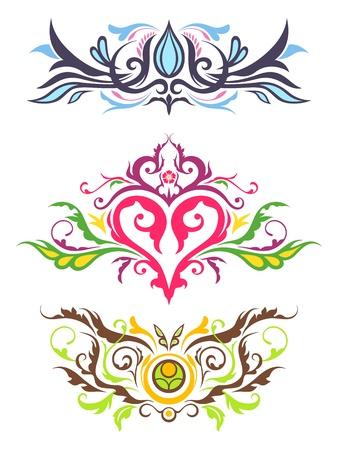 batik pattern: Decorative Floral Ornaments