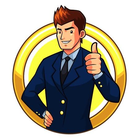 Great Businessman Stock Vector - 17432723