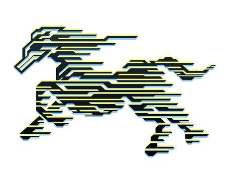 dobbin: Horse of Speed Illustration