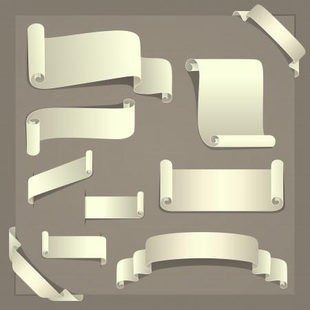Paper Design Elements  One set of ten paper design elements  Elegant and suitable for design use Illustration