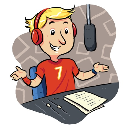 Broadcaster Radio on show Illustration