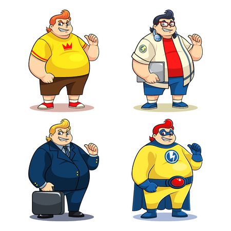 average: Mr  Bigger Characters 4 different big and fat characters   Illustration