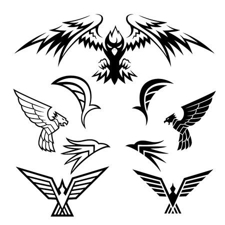 aguila volando: Bird Símbolos Un paquete de símbolos de aves Vectores